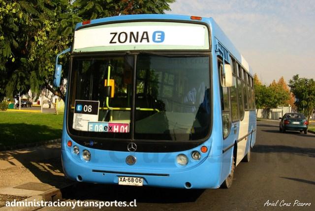 Transantiago E08 | Unitran | Metalpar Tronador - Mercedes Benz / XA6806