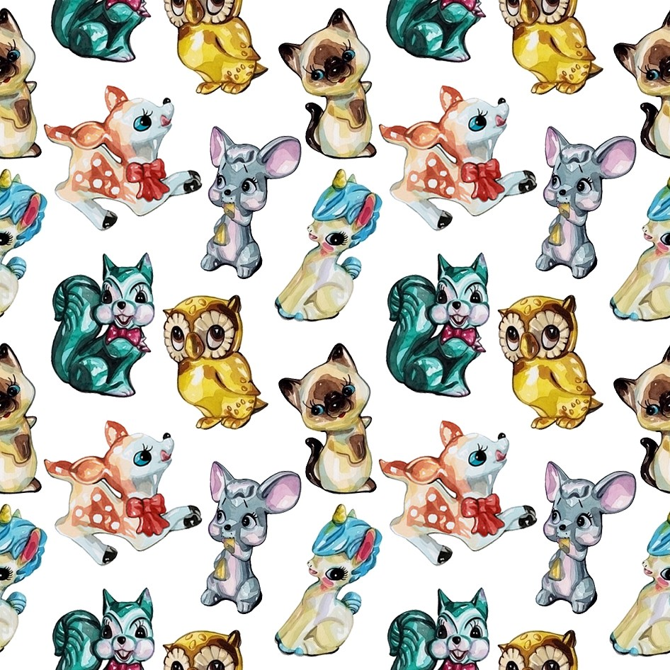 Blue Animal Print Wallpaper Kitschy Laura Manfre Flickr