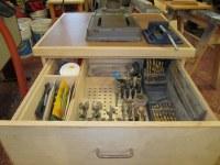 Drill Press Cabinet (Storage)   The bit storage drawer ...