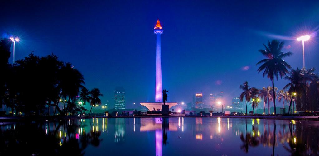 Wallpaper Sunset 3d Monas Tower Merdeka Square Jakarta The National