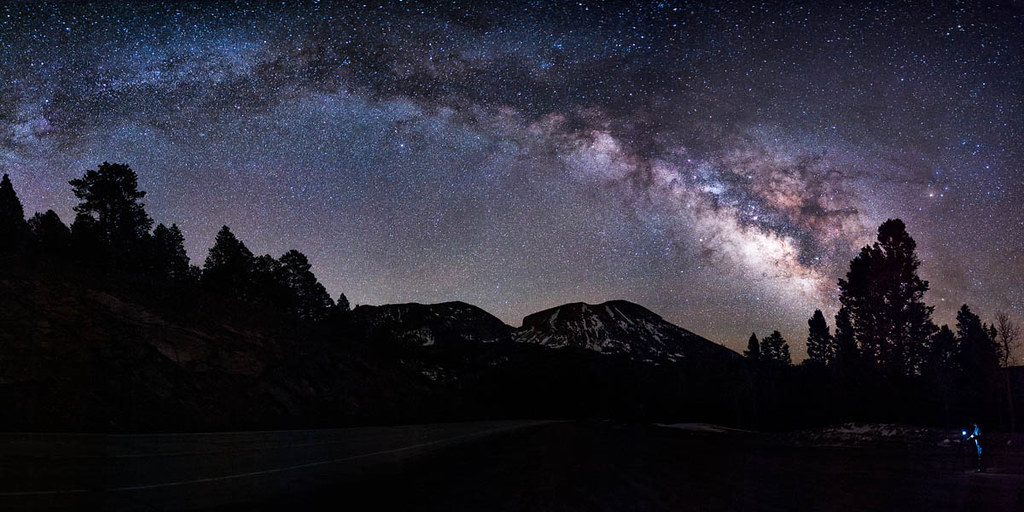 Blue Sky 3d Wallpaper La Veta Pass Milky Way Taken Earlier This Year From La