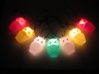 Vintage Owl Party Lights | String of Owl Blow Mold Patio ...