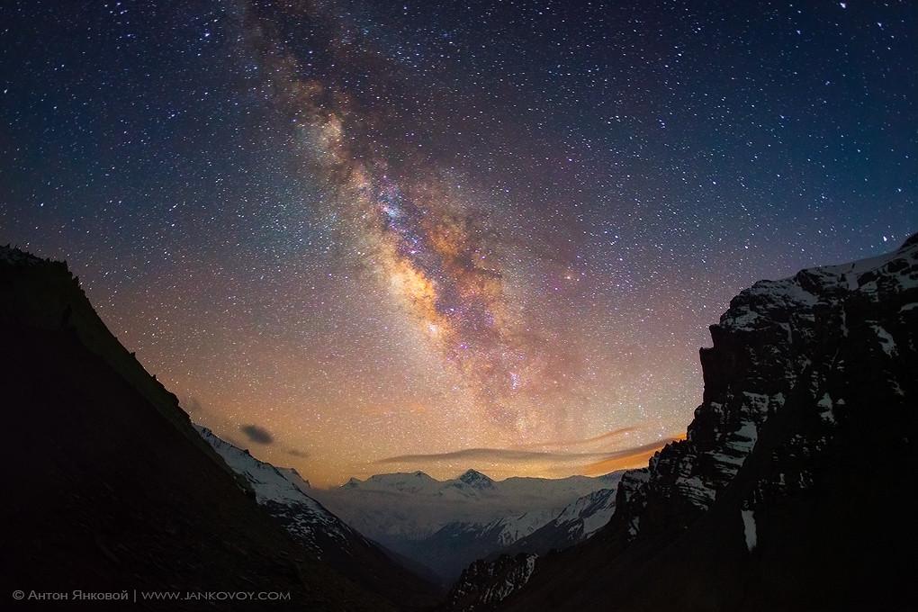 All God 3d Wallpaper Milky Way Above The Himalayas Nepal Himalayas