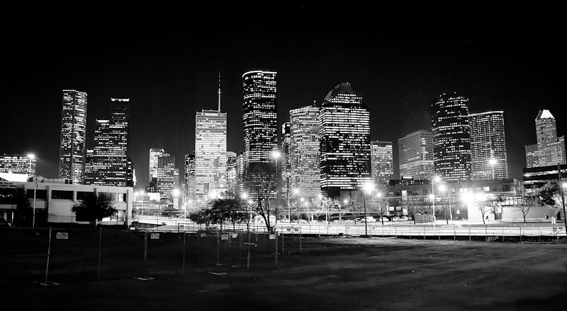 Wallpaper Hd 3d Black And White Houston Skyline At Night Jeremey Barrett Flickr