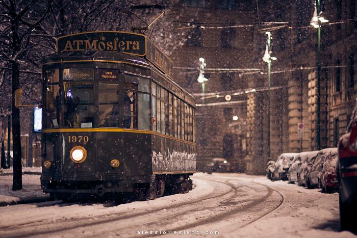 Free 3d Snow Falling Wallpaper Tram Atmosfera Milano Snowfall In Milano 12 Feb 2013