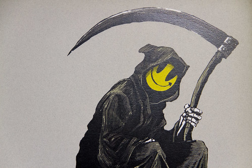 Graffiti Wallpaper Hd Detail From Banksy Quot Smiley Grim Reaper Death On A Clock Quot C