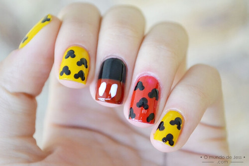 Tutorial Mickey Mouse Nail Art Assista O Tutorial