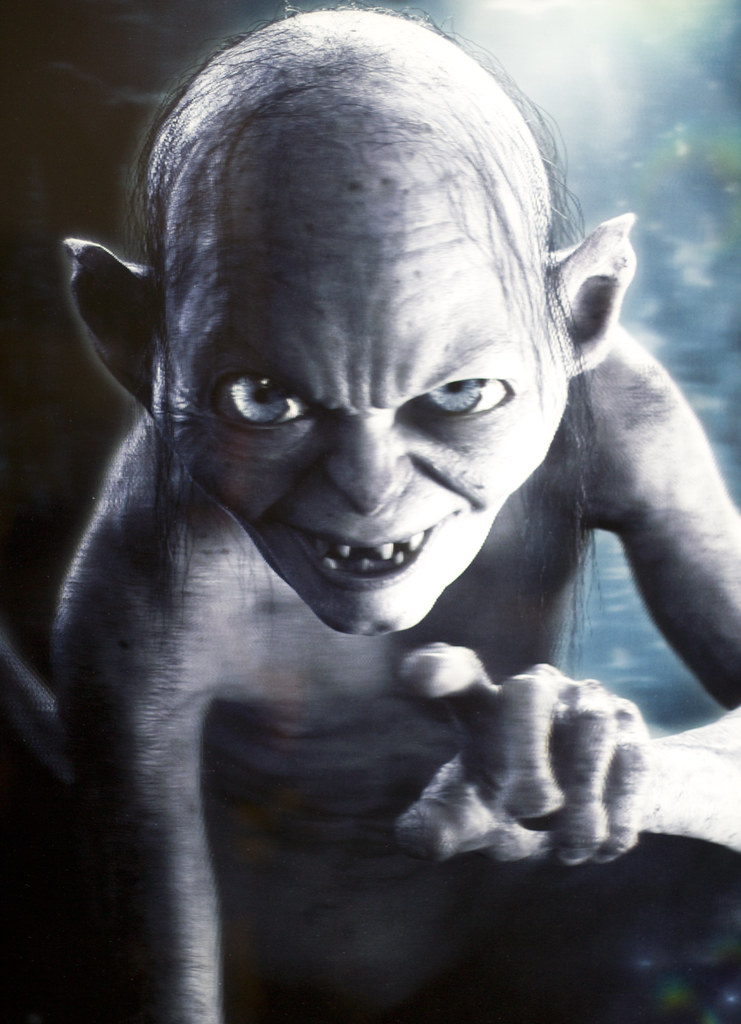 3d Iphone Wallpapers Free Gollum This Was A 3d Poster Promoting The Hobbit