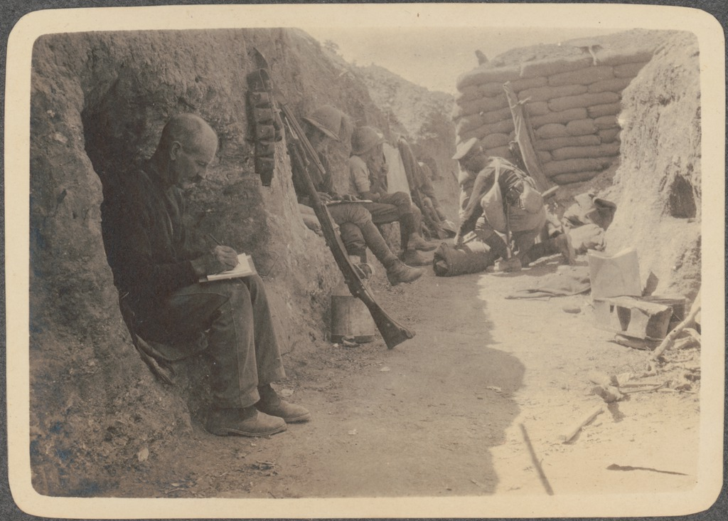Chronicleonline Floridas Best Community Newspaper Writing In The Trenches Anzac Soldiers Sit In Their Shel