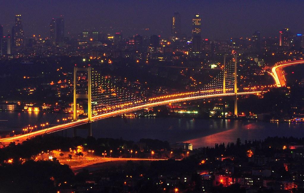 Night View Hd Wallpaper Bosphorus Bridge Beautiful View From Camlica Hill