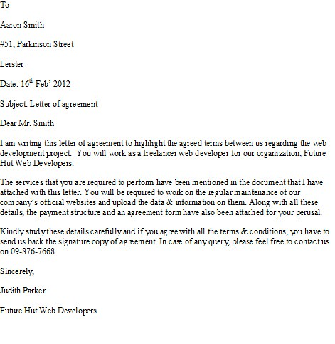 Sample Agreement Letter For more Sample Letters, Visit ww\u2026 Flickr