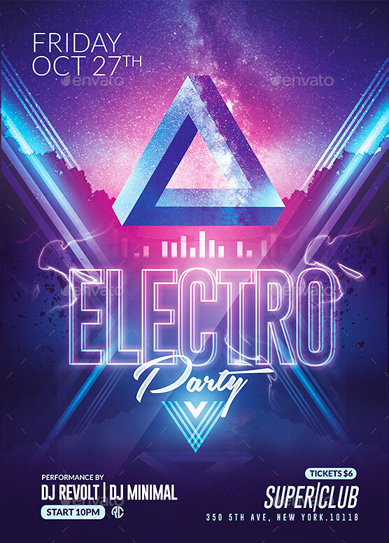 Minimal Electro Flyer Psd Flyer Templates Created By @Rome\u2026 Flickr - electro flyer