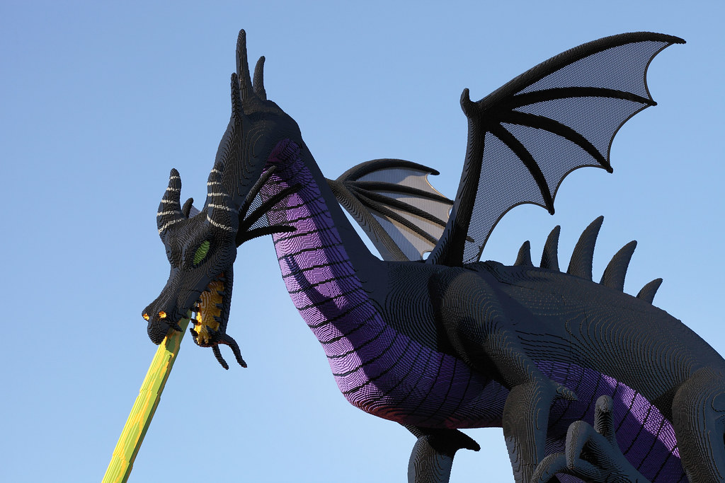 3d Wallpaper Fire Maleficent Dragon Maleficent Breathing Fire At The Lego