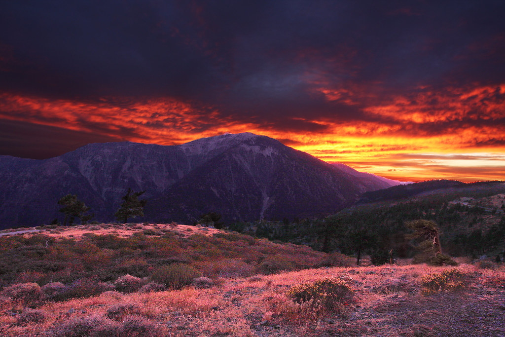 Free 3d Scenic Wallpaper Sunset In The San Gabriel Mountains Sunset In The San
