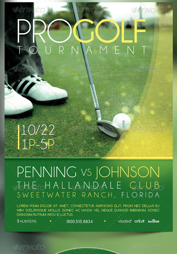 Golf Tournament Event Flyer and CD Template The Golf Tournu2026 Flickr - golf tournament flyer template
