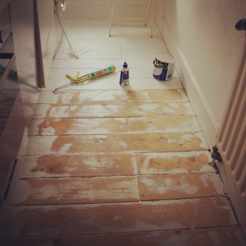 Wood Floors Sanding Stripping Filling And Repainting