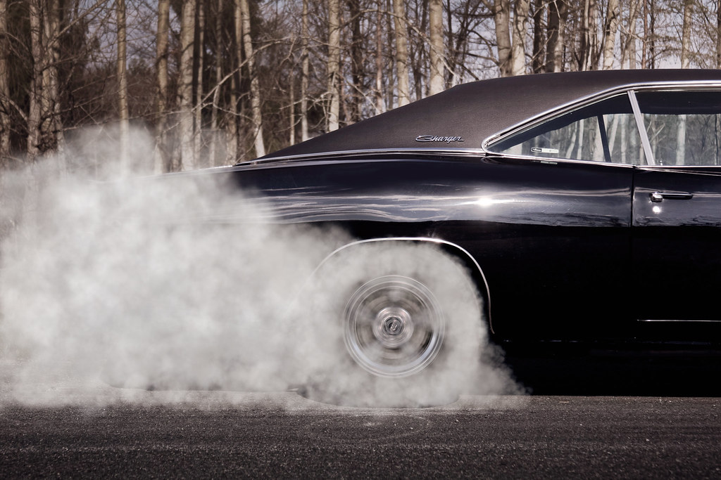 Car Wallpaper In 3d 1968 Dodge Charger Burnout Nolan Flickr