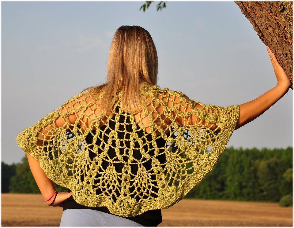 Crochet Bohemian Cape Shawl Crochet Bohemian Capelet