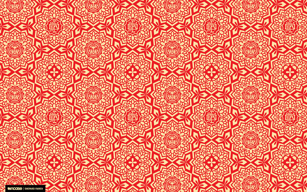 Pattern Wallpaper Hd Shepard Fairey Yen Pattern Red For Desktop Incase Flickr