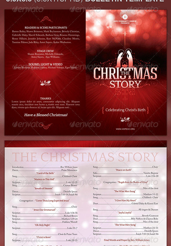 Church Bulletin Template - The Christmas Story The Christm\u2026 Flickr