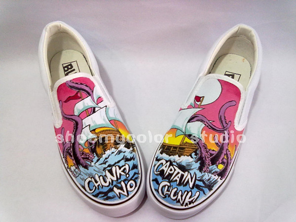 Chunk No Captain Chunk Hand Painted Shoes The Newest