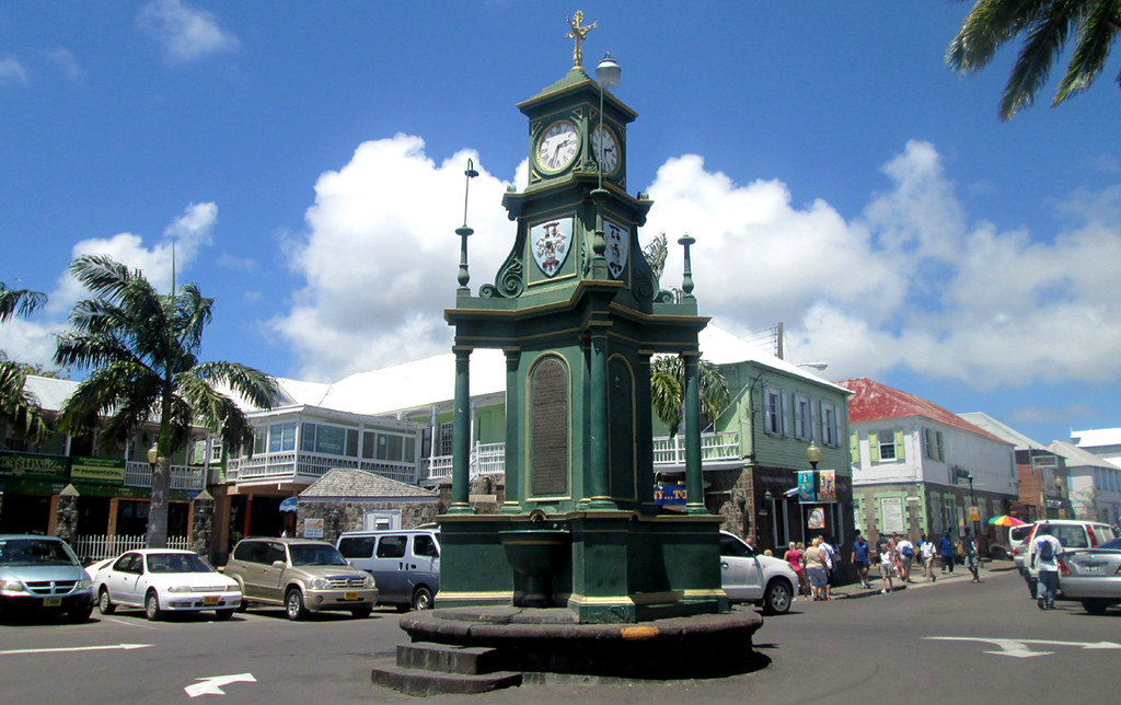 3d Fountain Wallpaper Basseterre The Circus The Circus In Basseterre St