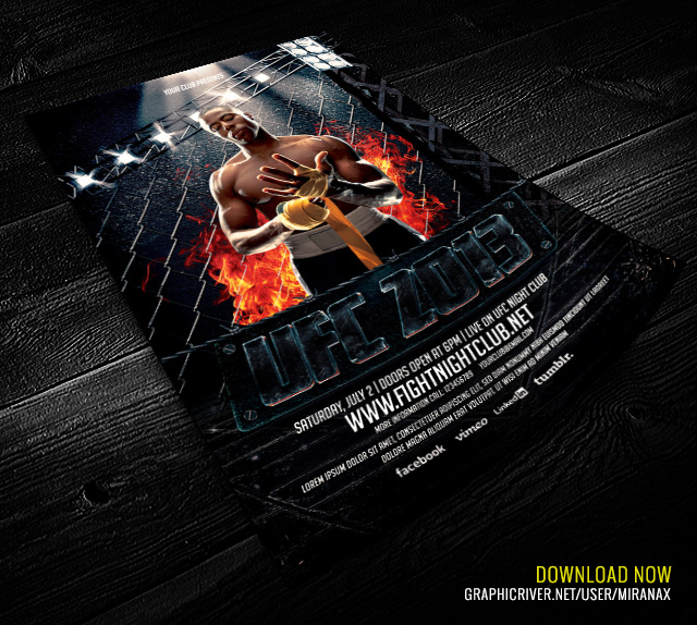MMA/UFC - Showdown Flyer Template MMA/UFC - Showdown Flyer\u2026 Flickr