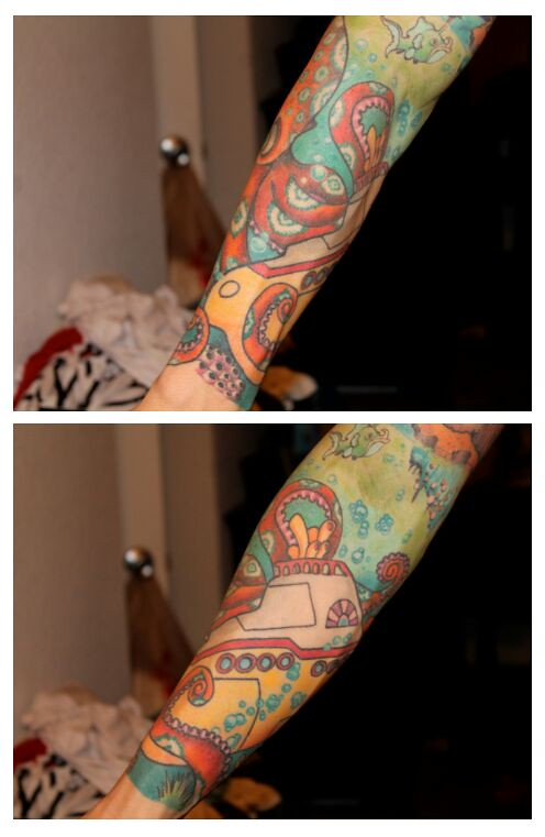 Octopus Iphone Wallpaper Yellow Submarine Tattoo Sleeve