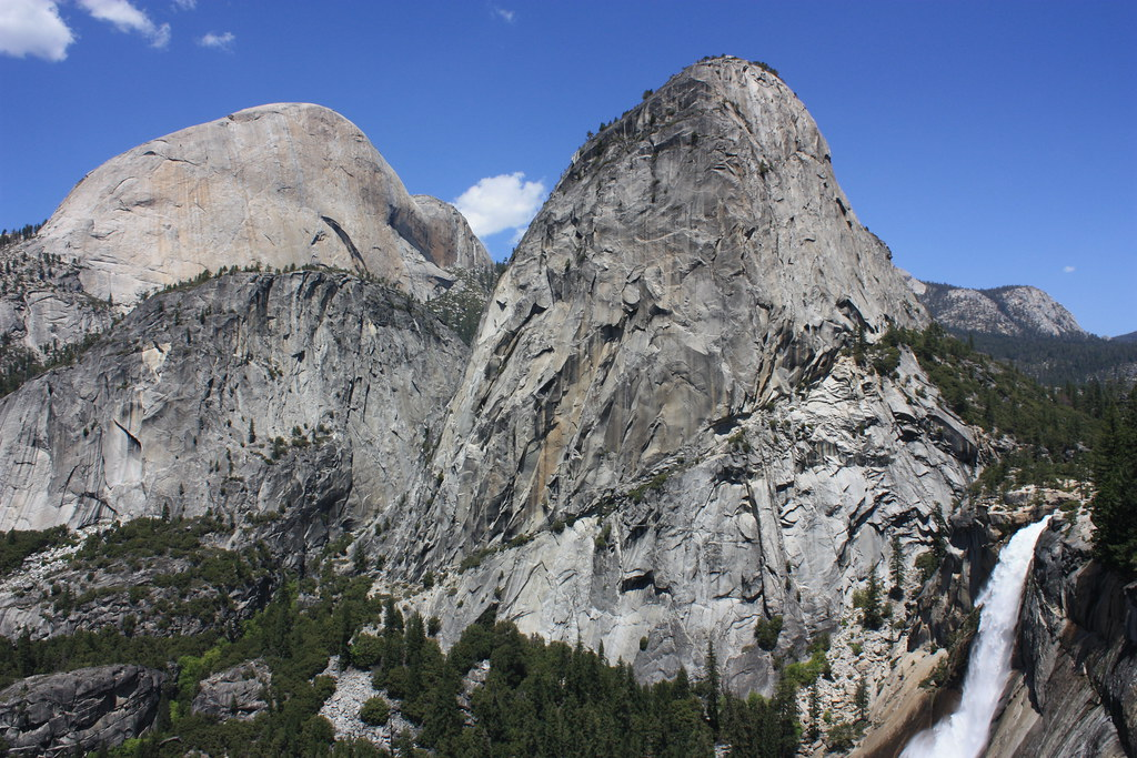 Alpine White Granite Yosemite National Park, Half Dome, Liberty Cap, And Nevada