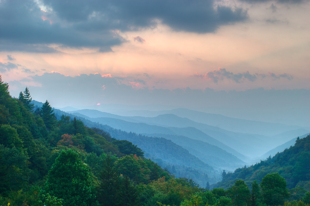 3d War Wallpaper Layered Sunrise Layered Sunrise Great Smoky Mountains