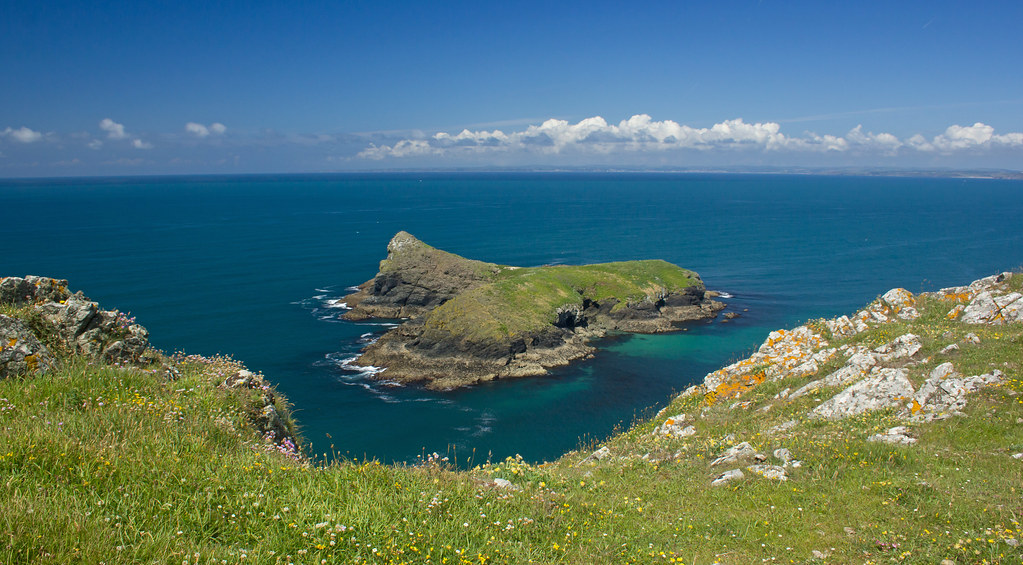 New 3d Wallpaper For Pc Mullion Island From The Cornwall Coastal Path Cropped To