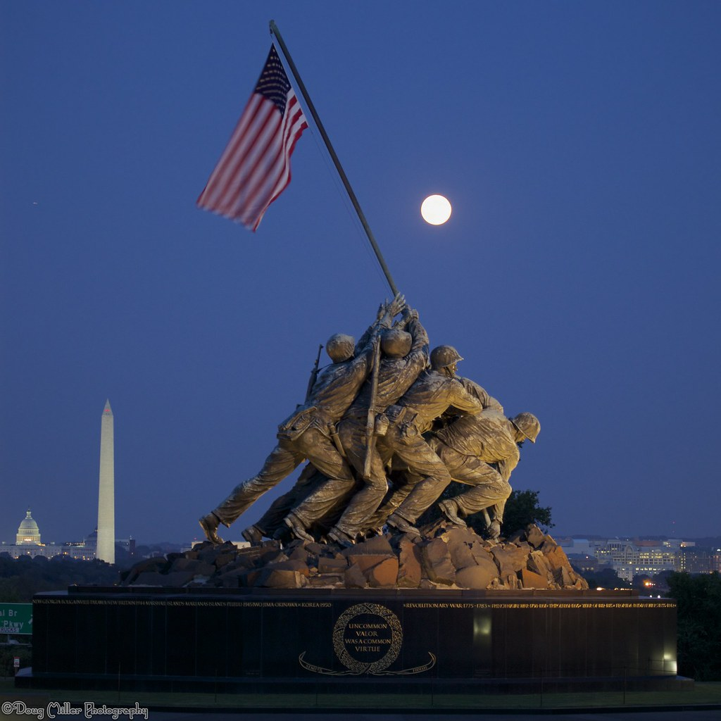 3d Fall Wallpaper As Night Fall On The Iwo Jima Monument Went Down To Dc