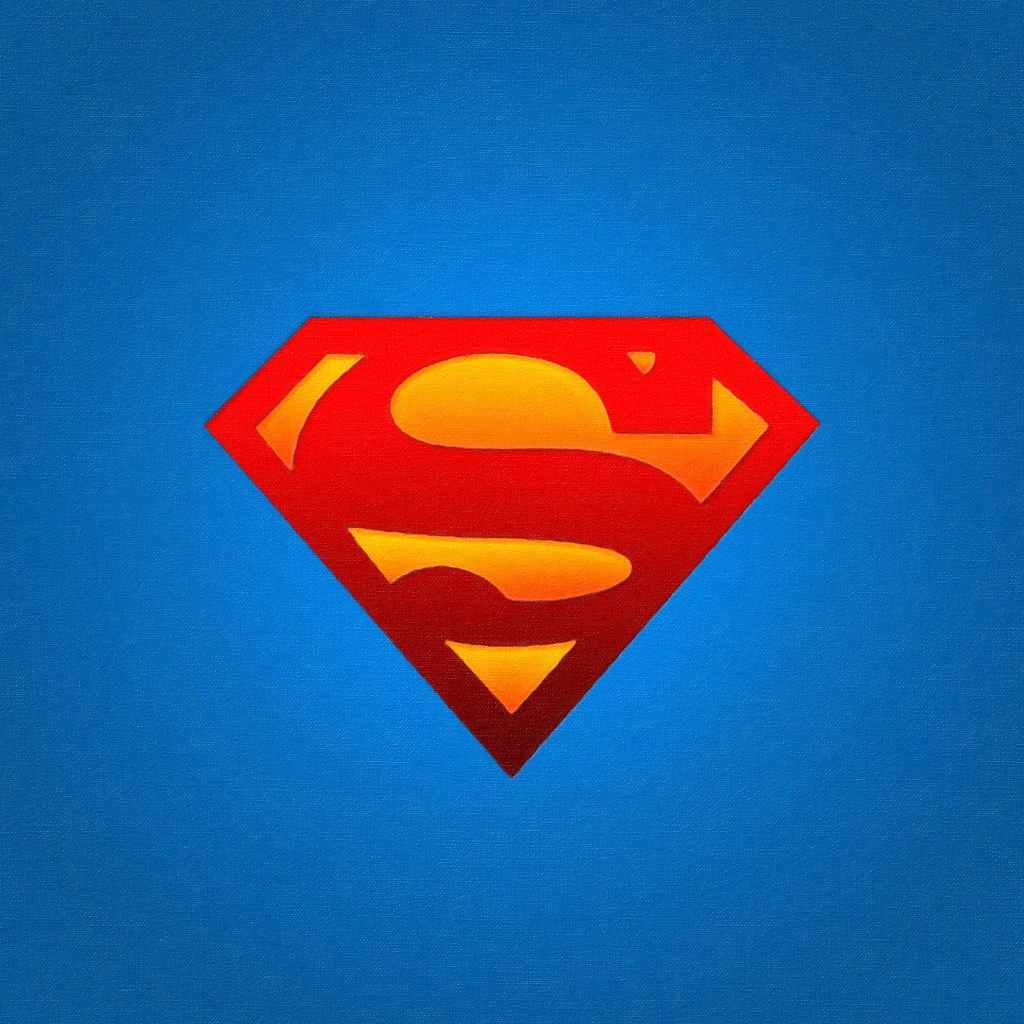 3d Wallpaper For Ipad Superman Logo In Oils 2048 X 2048 Pixel Image For The