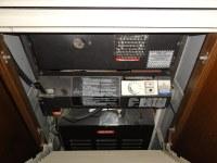 Vulcan Quasar Gas wall furnace | Door opened, showing fan ...
