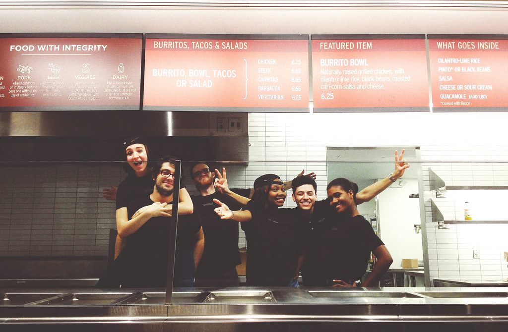 46/365 - My Chipotle Closing Crew 10/15/12 Pheww busy day\u2026 Flickr