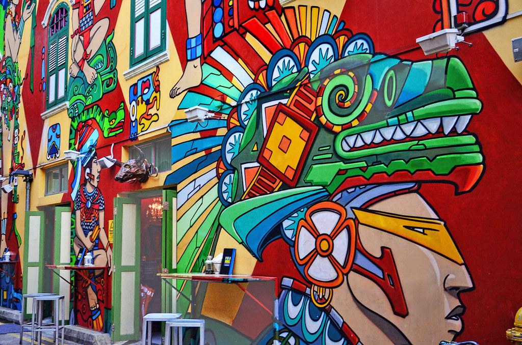 3d Street Art Graffiti Wallpaper Colorful Graffiti Spicing Up The Atmosphere At Haji Lane