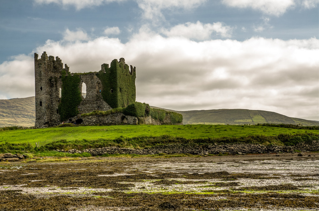 Free 3d Scenic Wallpaper Ballycarbery Castle Ring Of Kerry County Kerry Ireland