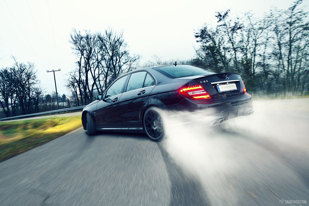 Complete Black Wallpaper Mercedes Benz C63 Amg 3 Another Drift Shot See The