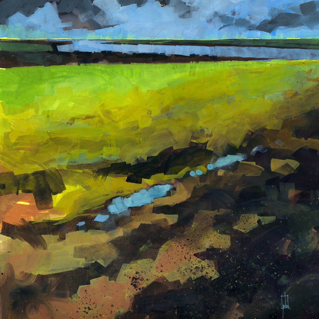 11 X 11 Clayhill Vista Acrylic 11 X 11 Inches 2012 Paul Bailey