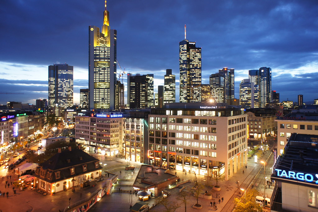 Free Landscape Wallpaper Hd Frankfurt Frankfurt Am Main Night From The Galleria