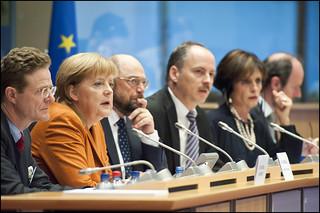 Chancellor Merkel Taking The Floor Chancellor Merkel In