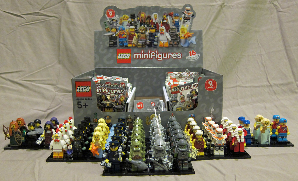 A Wallpaper 3d Lego Collectible Minifigures Series 9 Unpacked My Series