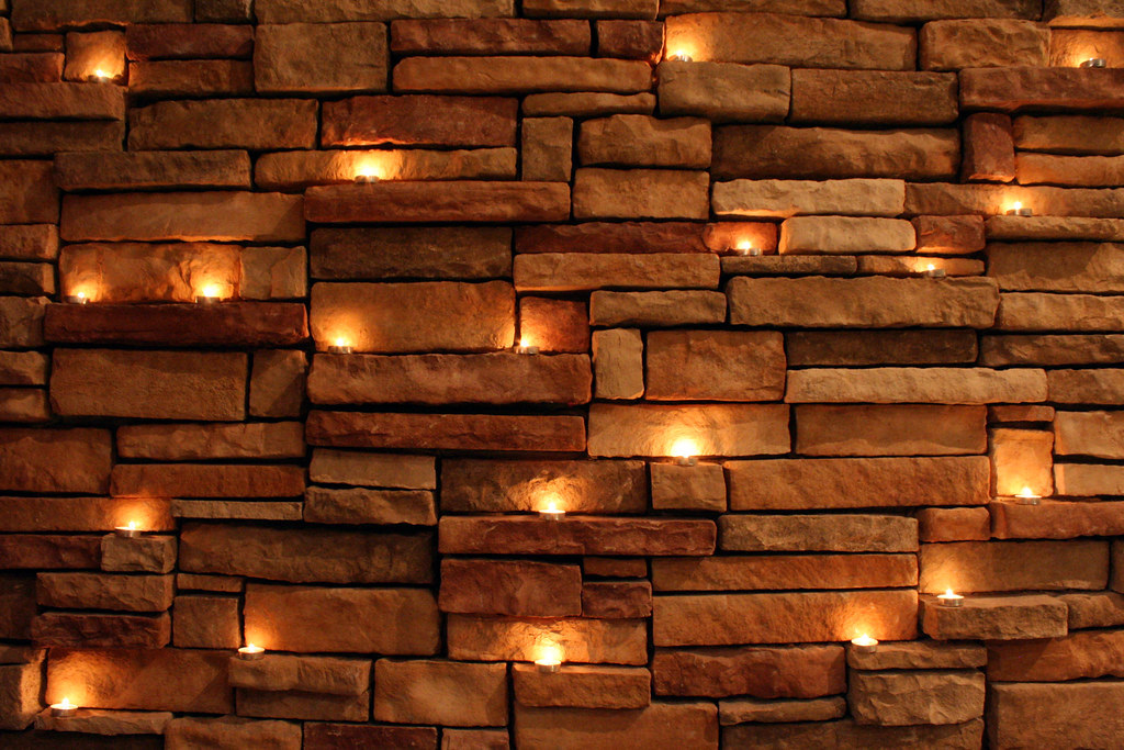 3d White Brick Wallpaper Candles On Rock Wall There Were So Many Great Shots Of