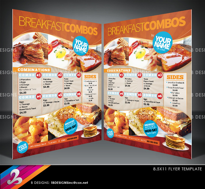 Menu Flyer Template DOWNLOAD FULLY LAYERED PHOTOSHOP FILE \u2026 Flickr