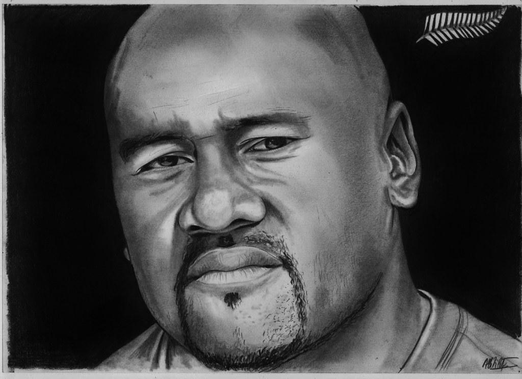 3d Art Drawing Wallpaper Jonah Lomu Drawing Jonah Lomu Drawing In B Amp W Alain