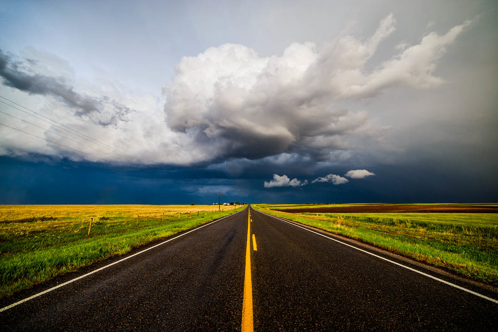 3d Street Wallpaper Vanishing Storm After A Long Day Of Storm Chasing In