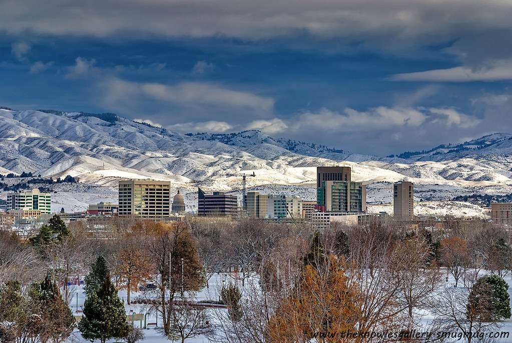 Colorado Fall Desktop Wallpaper City Of Boise Idaho Winter Snow Covered Town Of Boise