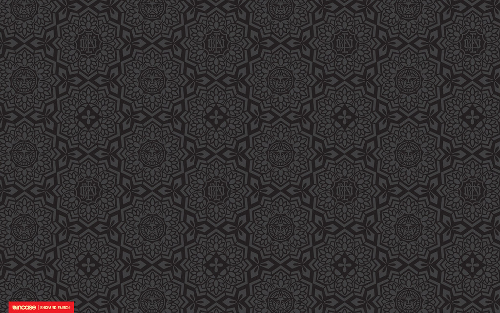 Dark Images Wallpaper Hd Shepard Fairey Yen Pattern Black For Desktop Incase