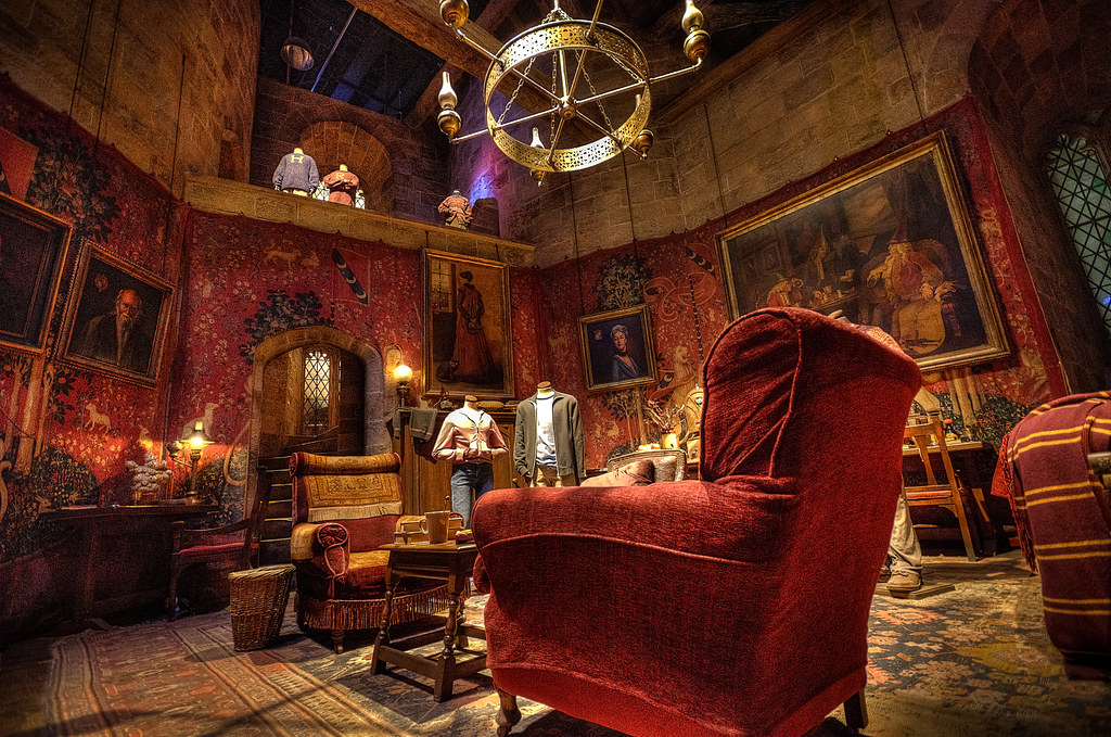 Gryffindor Common Room Hdr From A Single Raw Flickr