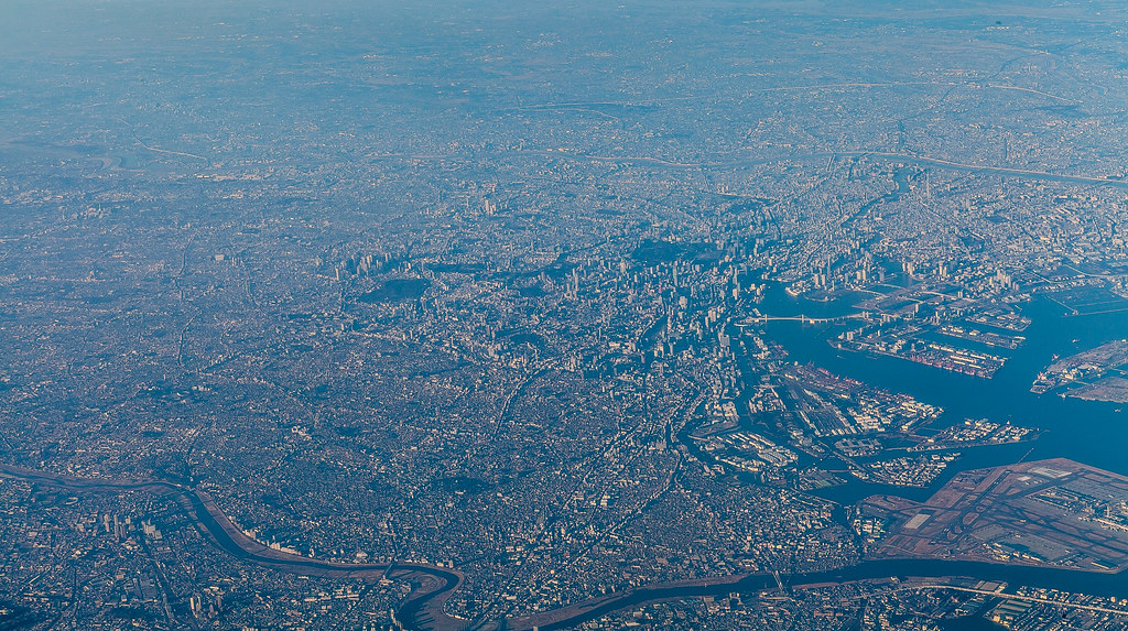 3d Perspective Wallpaper Tokyo City Aerial Perspective Leaving Japan With A